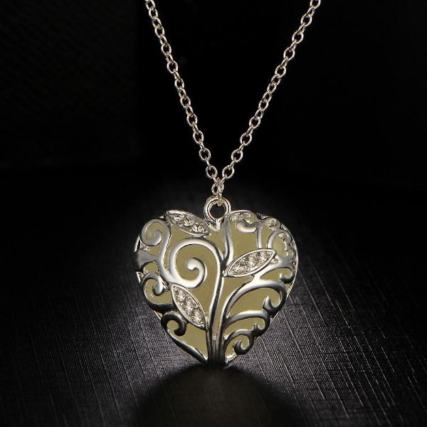 Glowing Heart Necklaces
