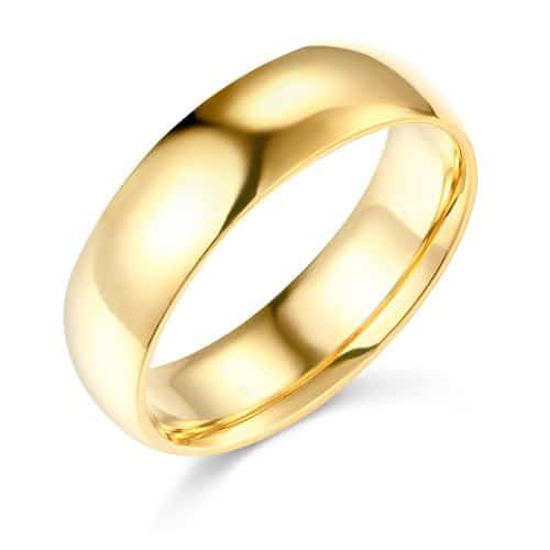 Gm Wedding Collection 14K Yellow Gold Plain Wedding Band