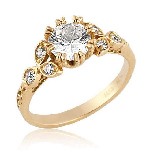 Gold Antique Engagement Ring