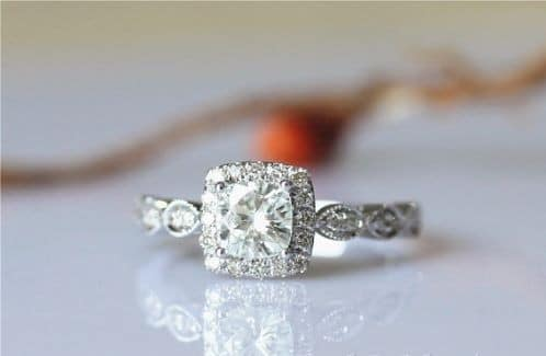 Gold Engagement Diamond Rings