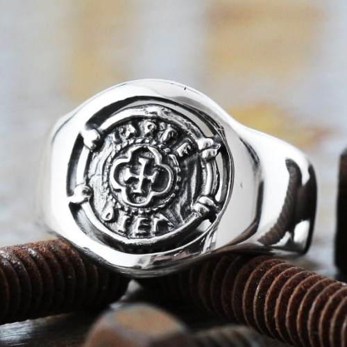 Gold Monogram Signet Ring
