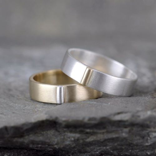 Gold Silver Rings For Couples