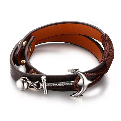 Guys Mens Leather Bracelets