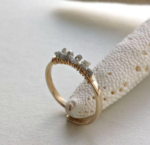Handmade Rough Diamond Rings