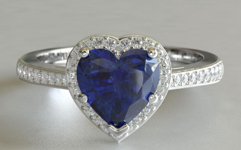 Heart-Shaped Ring Stone