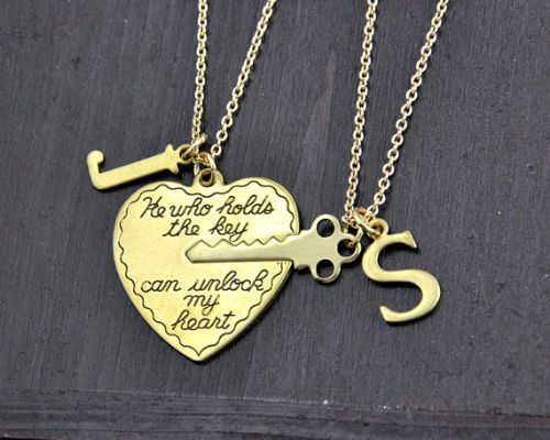 His And Her Heart Necklaces