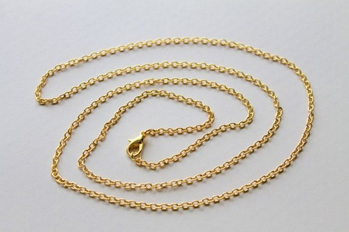 bushishaya gold chains necklaces solid link product pend cuban chain rose dhgate from w wholesale necklace pendant best com friend