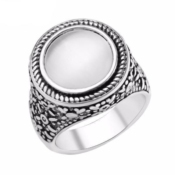 Hyalite Opal Ring