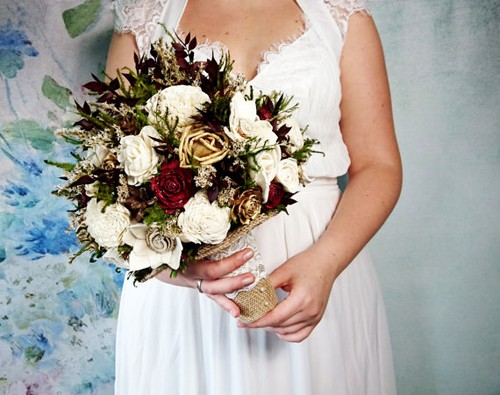 Large Burlap Bridal Bouquet