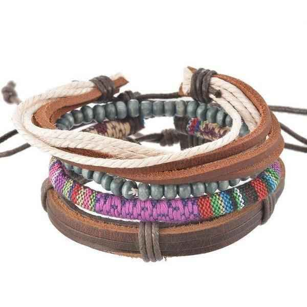 Leather Cuff Bracelet Womens