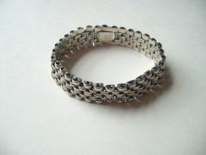 Linked Silver Bracelets For Men