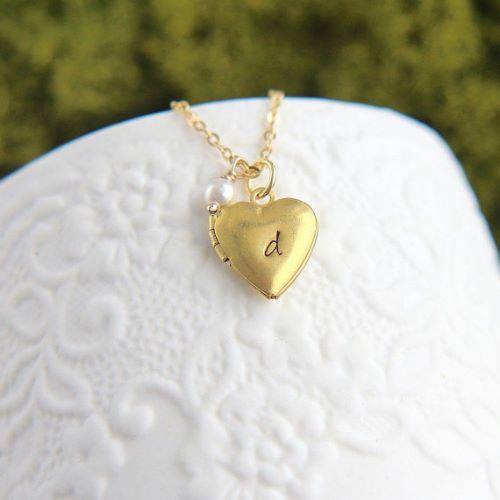 Locket Necklace Engraved