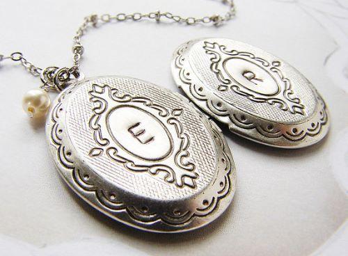 Locket Necklace Silver