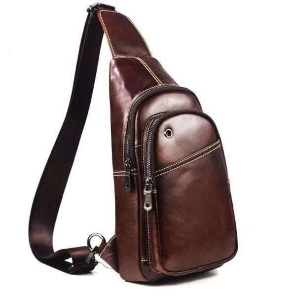 Man Bag Leather Crossbody