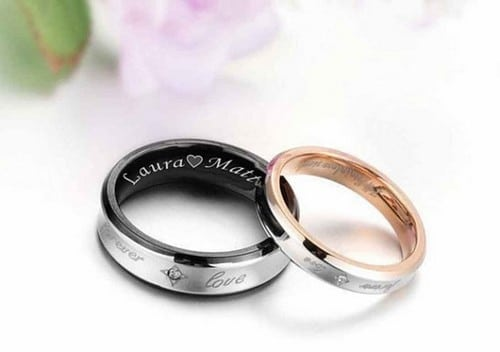 ring rings set listing meteorite wedding matching mens tungsten il