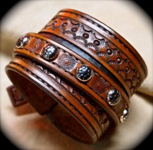 Mens Brown Leather Bracelets