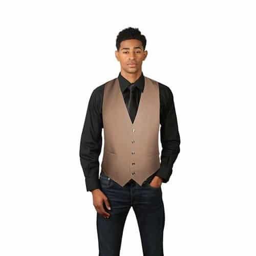 Mens Brown Wool Vest
