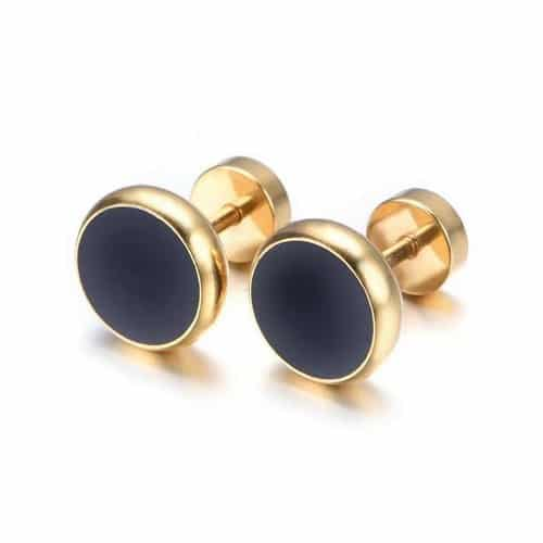 Mens Earrings Black