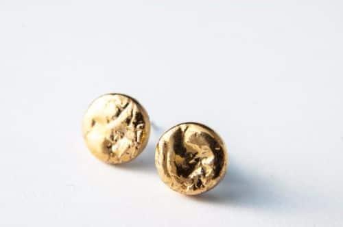 Mens Earrings Gold Stud