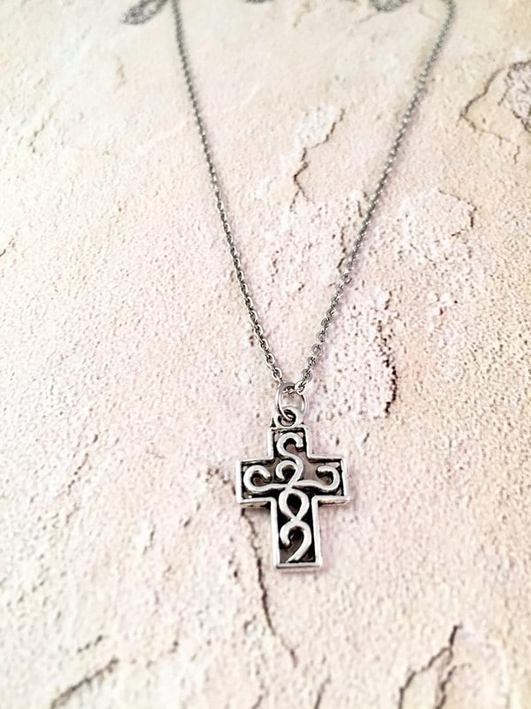 Mens Gold Cross Necklaces 14K