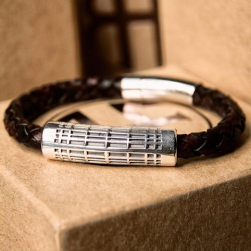 Mens Leather And Silver Bracelets Uk