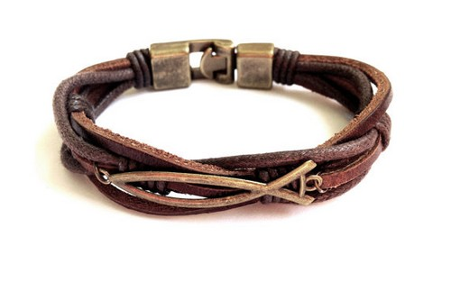 Mens Leather Bracelets Engraved