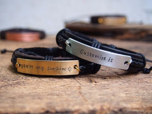 Mens Leather Bracelets Uk
