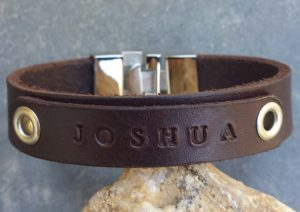 Mens Leather Id Bracelets