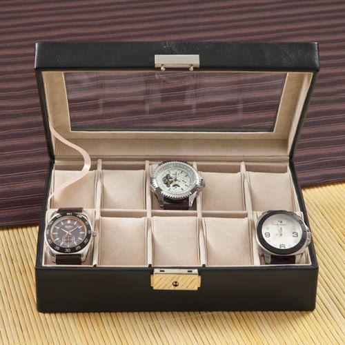 Mens Leather Jewelry Box