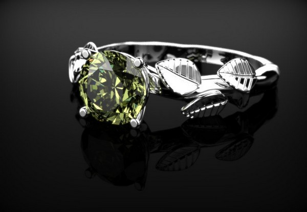 Mens Peridot Rings