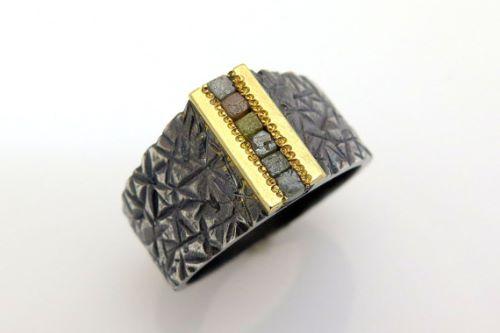 Mens Rough Diamond Rings