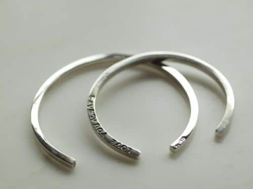 Mens Solid Silver Bangles