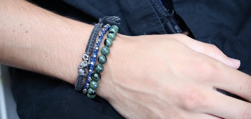 One Mens Stacked Bracelets