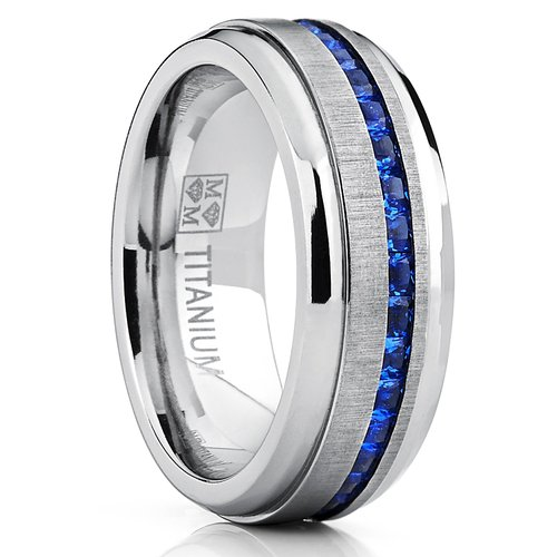 Metal Masters Co. Men'S Eternity Titanium Wedding Band
