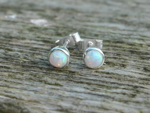Mexican Fire Opal Earings