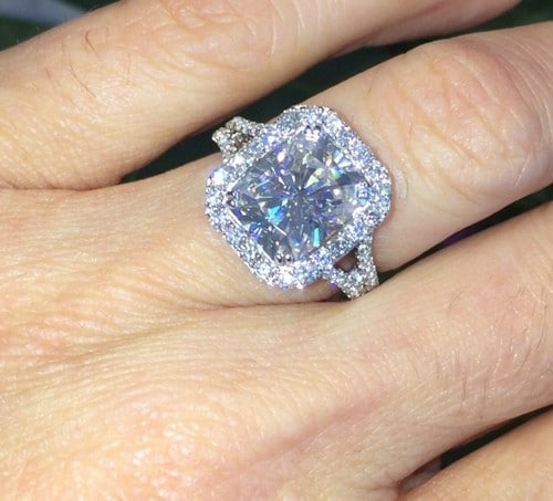 moissanite emerald cut engagement rings - Moissanite Wedding Rings