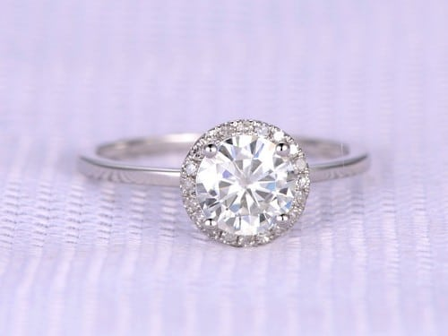 Moissanite Engagement Rings Cheap