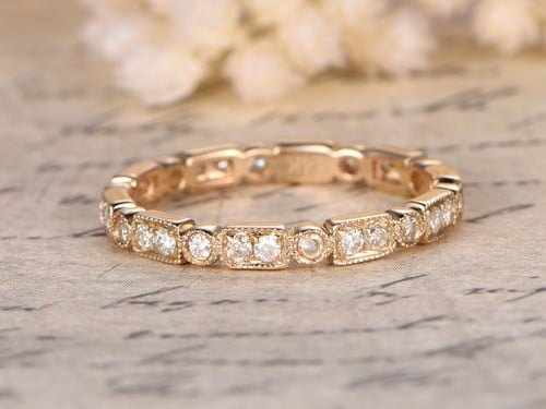 Moissanite Engagement Rings Rose Gold