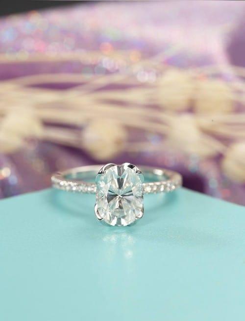 Moissanite Forever Brilliant Engagement Rings