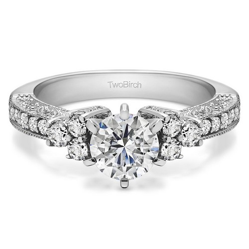 Moissanite Halo Engagement Rings