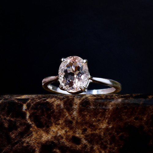 Morganite And Diamond Engagement Ring