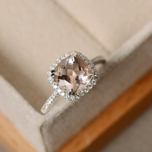 morganite engagement ring - Morganite Wedding Ring
