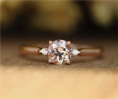 Morganite Engagement Ring Etsy