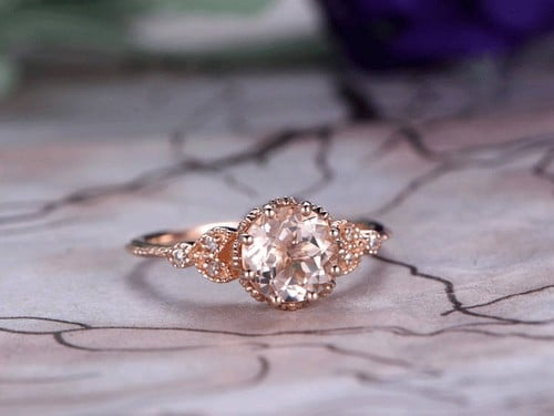 Morganite Engagement Ring Rose Gold
