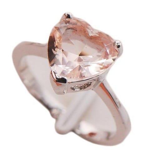 Morganite Engagement Ring Set