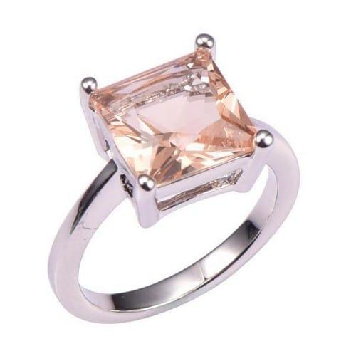 Morganite Engagement Ring White Gold