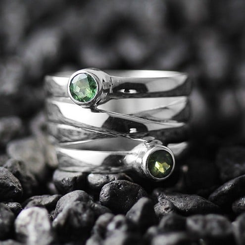 Natural Alexandrite Engagement Ring