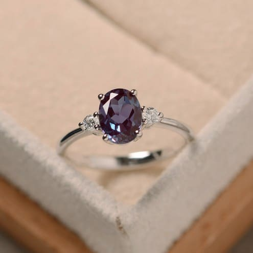 natural alexandrite engagement rings - Alexandrite Wedding Ring