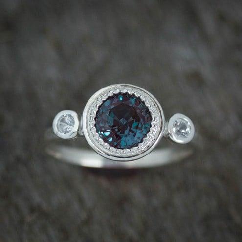 Natural Alexandrite Rings June Birthstone Jewelry