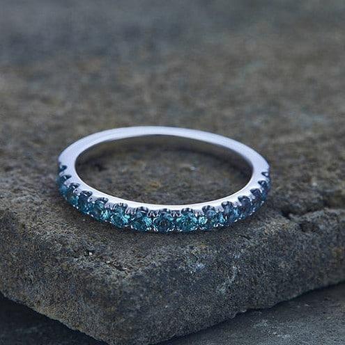 Natural Alexandrite Wedding Rings